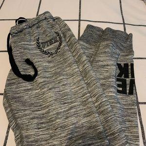 grey PINK sweatpants